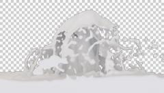 Animated fountain of white paint against transparent background 1080p Stock Footage
