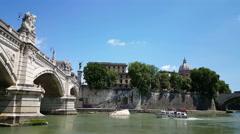 Ponte Vittorio Emanuele II Stock Footage