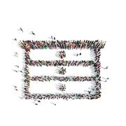 People in the shape of dresser Stock Illustration