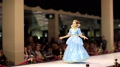 Little girl model walks the runway during Estet fashion week Stock Footage