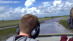 "Stock Video Footage of Airboat Tour across the ""River of Grass"" in Everglades NP."