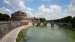 Stock Video Footage of Mausoleum of Hadrian, Castel Sant Angelo
