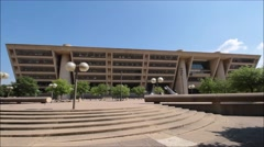 Dallas City hall front wide shot. Stock Footage