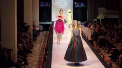 Stock Video Footage of Model walks the runway during Estet fashion week