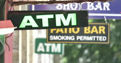 4k ATM Sign - stock footage