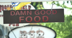 4k Good Food Sign Stock Footage