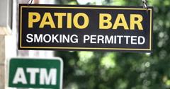 4k Patio Bar Sign - stock footage