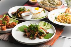 Stock Photo of Authentic Thai Food Dishes