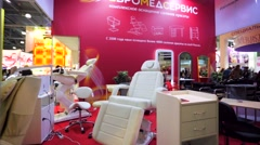 Professional equipment for beauty salons Stock Footage