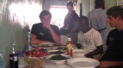 Local Zambian Restaurant and Market Stock Footage