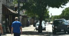 4K 6th. Street Austin Texas local traffic Stock Footage
