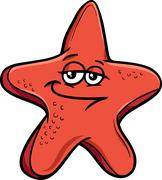 Stock Illustration of sea starfish cartoon illustration