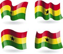 Stock Illustration of 4 Flags of Ghana