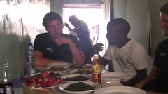 Local Restaurant in Kitwe, Zambia Stock Footage