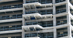 Construction Site High-Rise Building Real Estate Stock Footage