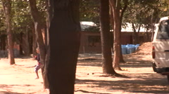 Driving through rural Zambia Stock Footage