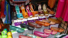 womens mexican shoes - stock photo