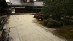 Japanese Garden in Toufuku-ji in Kyoto, Japan -Tracking Tilt Up- Stock Footage