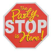 Party stop sign. The party is here! Piirros
