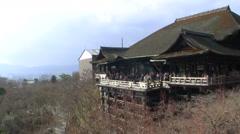 Time Lapse of Kiyomizu-dera Temple in Kyoto, Japan -Ver 2- Stock Footage