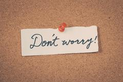 Don't worry - stock photo