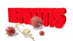 Hepatitis infection medical hd footage, 3d sign Stock Footage