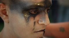 Harari Alon, counter tenor in Carl Orff's 'Carmina Burana' opera Stock Footage