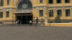 Saigon Central Post Office, Vietnam Stock Footage