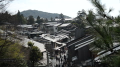 Time Lapse of Tourists on Historic Street of Ninenzaka in Kyoto, Japan -Ver 2- Stock Footage