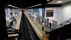 Passengers at the Subway Station. Rio de Janeiro, Brazil. Botafogo. Stock Footage