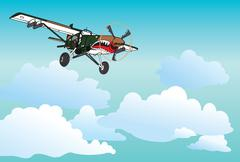 Pilatus Aircraft PC-6 Stock Illustration
