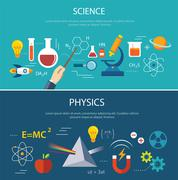 Science and physics education concept Stock Illustration