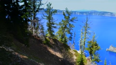 Scenic Crater Lake National Park, Oregon Stock Footage