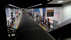 Passengers at the Subway Station. Rio de Janeiro, Brazil Stock Footage