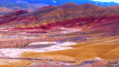 Painted Hills National Landmark, Oregon Stock Footage