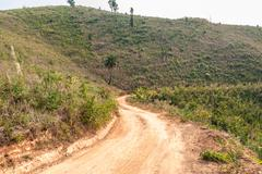 Roads in rural areas of developing countries Stock Photos