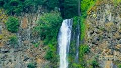 Scenic Multnomah Falls, Oregon Stock Footage
