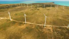 Turbine Energy Wind Power Sky Technology Environment Green Nature Electricity Stock Footage