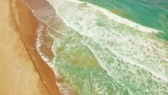 Beach Blue Sea Summer Sky Water Ocean Travel Vacation Tropical Wave Sand Sun Stock Footage