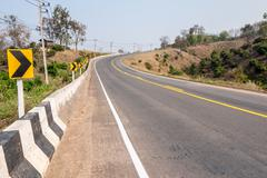 Roads in rural areas of developing countries - stock photo