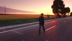 Success Business Businessman Way Man Road Career Street Sky Future Job Outdoor Stock Footage