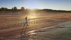 Background Beach Hand Water Silhouette Person Sport Fitness Summer Man Nature Stock Footage