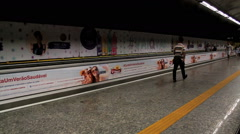 Passengers at the Subway Station. Rio de Janeiro, Brazil - stock footage