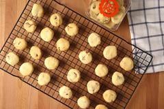Baking cookies for auspicious reasons Stock Photos