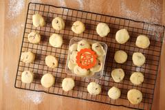Baking cookies for auspicious reasons - stock photo
