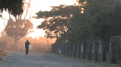 Early Morning Commute in Kitwe, Zambia - stock footage
