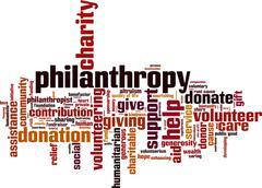 Philanthropy word cloud Piirros
