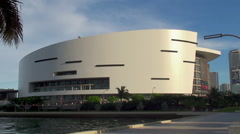 American Airlines Arena in Miami downtown. Stock Footage