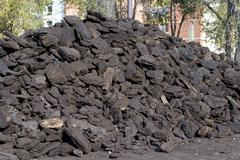 Lignite coal - stock photo