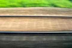 Motion Blurred Railway Tracks Illustrating 'Speed' Kuvituskuvat